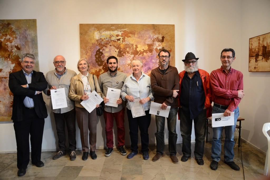 Roda de premsa de l'Observatori Ciutadà contra la Corrupció, a Ca Revolta. Fotos: PRATS i CAMPS