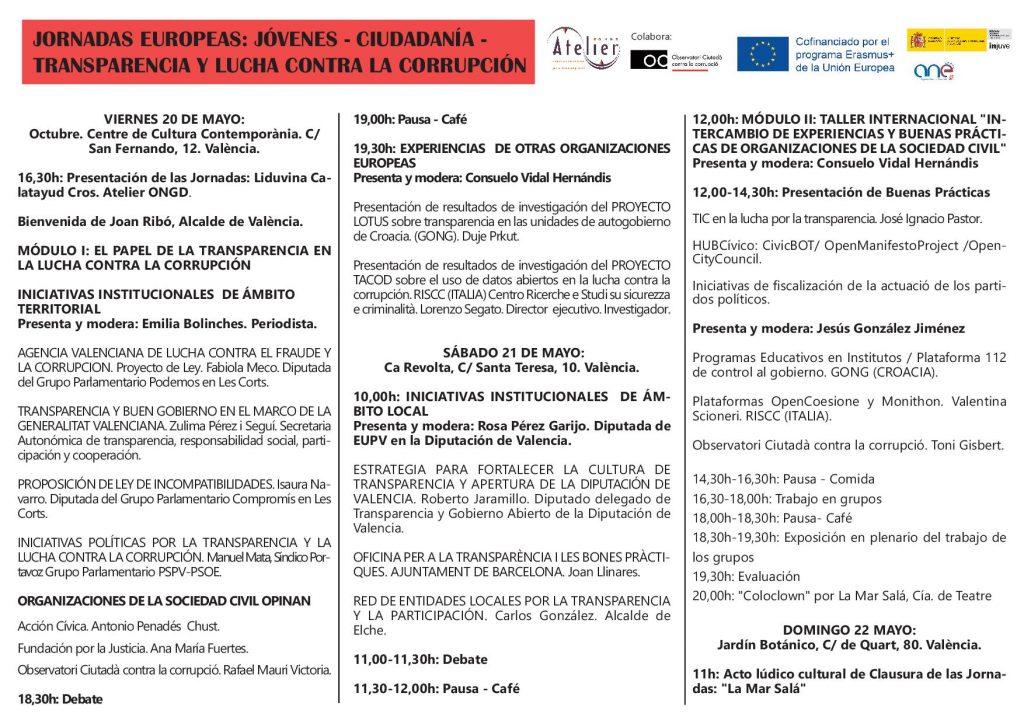 Programa Jornadas Europeas